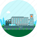 architecture, beer, beer factory, brewery, building, business, city, factory, manufactory, plant icon