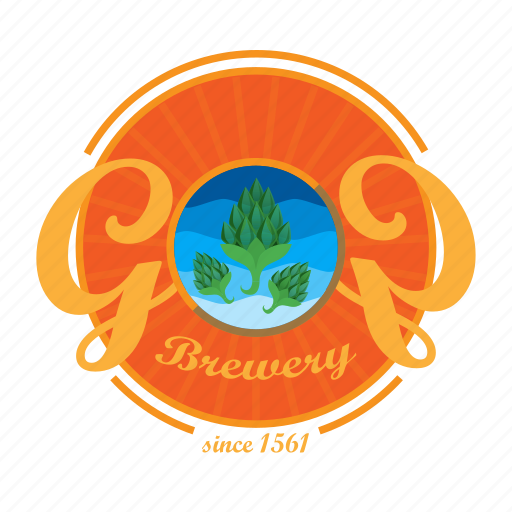alcohol, beer, brewery, drink, emblem, logo icon