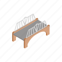 arch, architecture, bridge, building, isometric, rail, transportation icon