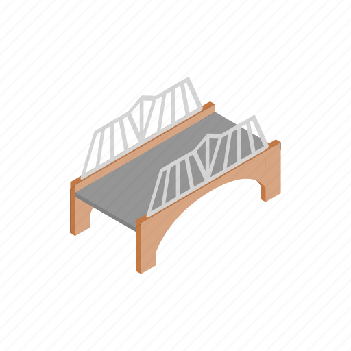 arch, architecture, bridge, building, isometric, rail, transportation icon