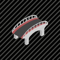 arch, architecture, bridge, building, isometric, transportation, travel icon