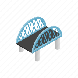 arch, architecture, bridge, building, isometric, transportation, travel icon