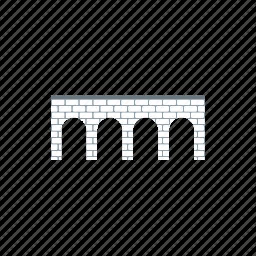 architecture, brick, bridge, building, river, transportation, travel icon