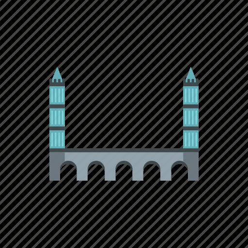 architecture, bridge, building, castle, tower, transportation, travel icon