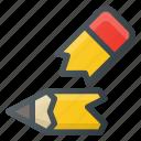 broken, pencil