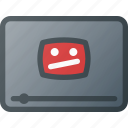 broken, video icon