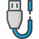 broken, cable, torn icon