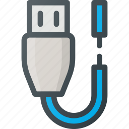 broken, cable, torn icon
