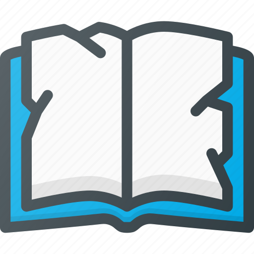 book, crumpled icon