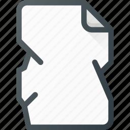 crumpled, paper icon