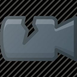 broken, camera, crushed icon