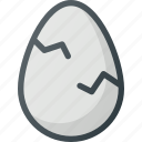 broken, crushed, egg icon