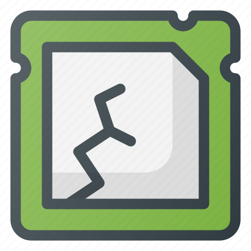 Broken, crushed, processor icon - Download on Iconfinder