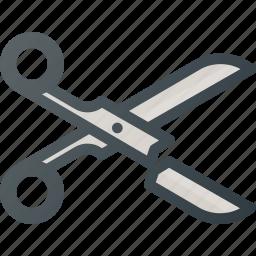 broken, crushed, scissors icon