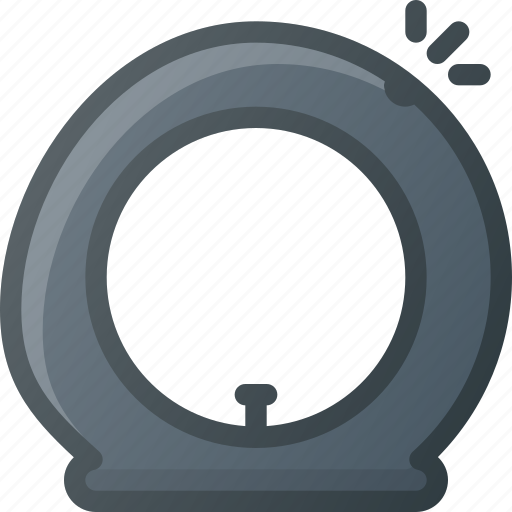 broken, crushed, tire icon