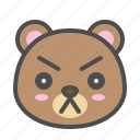 avatar, bear, cute, face, serious