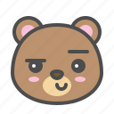 avatar, bear, cute, face, smirk