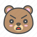 angry, avatar, bear, cute, face