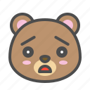 avatar, bear, cute, face, sad