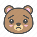 avatar, bear, cute, face, worried