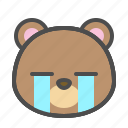 avatar, bear, cry, cute, face