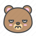 avatar, bear, bored, cute, face