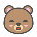avatar, bear, cute, face, tired