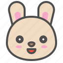 cute, avatar, bunny, rabbit, emoji, animal icon