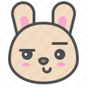 smirk, cute, emoji, bunny, rabbit, avatar, animal icon