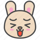 animal, avatar, bunny, cute, emoji, happy, rabbit icon