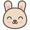 cute, avatar, bunny, rabbit, emoji, animal, smile icon