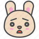 cute, avatar, bunny, sad, rabbit, emoji, animal icon