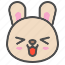 cute, emoji, bunny, happy, rabbit, avatar, animal icon