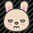 animal, avatar, bunny, cute, emoji, rabbit icon