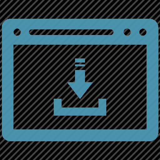browser, download, internet, webpage, website icon