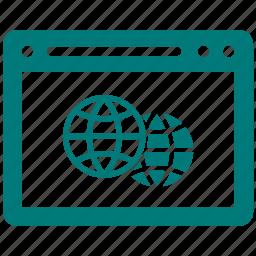 design, earth, global, internet, seo, website icon