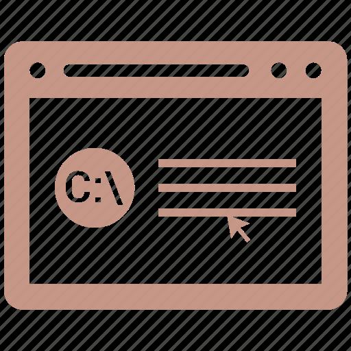 browser, cod, codeing, internet, webpage, website icon