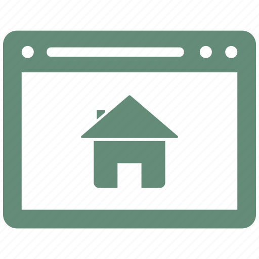 browser, home, house, internet, webpage, website icon