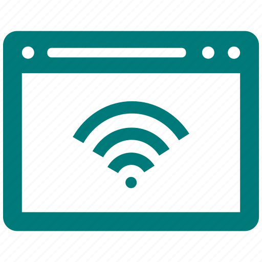 browser, internet, page, web, wifi icon
