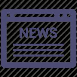design, internet, news, seo, website icon