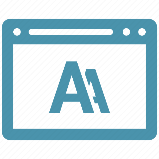 a, browser, internet, page, web icon
