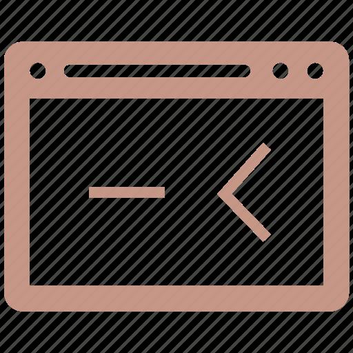 cod, html, internet, seo, web, website icon