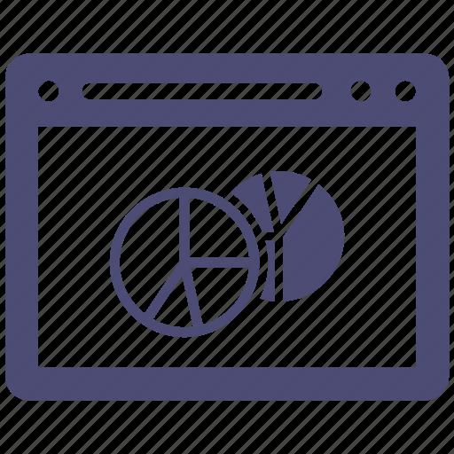 internet, pie chart, seo, web, website icon