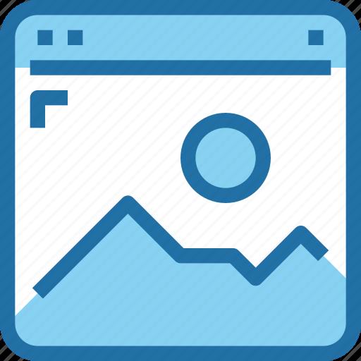 browser, interface, media, photo, ui, web icon