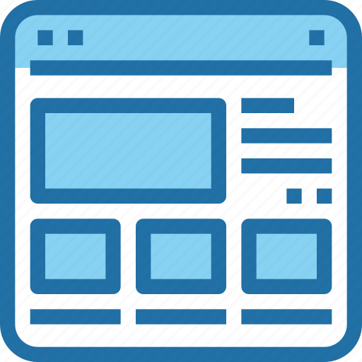 browser, content, interface, layout, ui, web icon