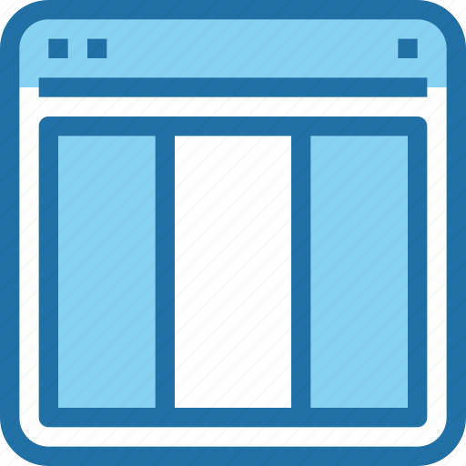 browser, interface, layout, ui, web icon