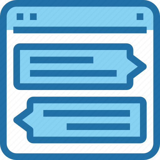 browser, chat, communication, interface, ui, web icon