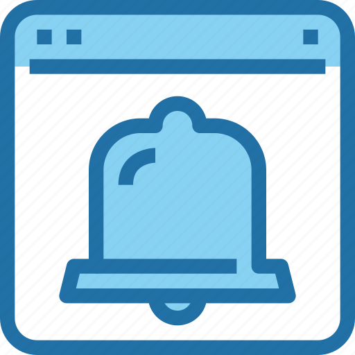 bell, browser, interface, notification, timer, ui, web icon
