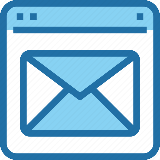 browser, email, interface, letter, mail, ui, web icon