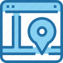 browser, interface, location, map, ui, web icon